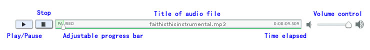 how to use flash audio player